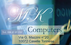 Mk Computers - Assistenza PC e Siti Web Caselle Torinese - bigliettino da visita Mk Computers
