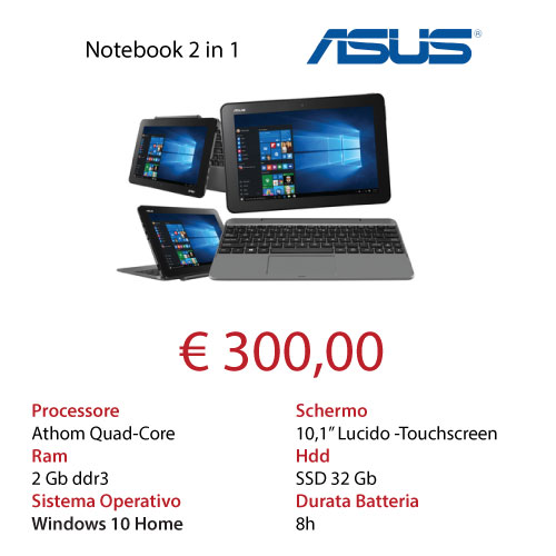 Mk Computers - Assistenza PC e Siti Web Caselle Torinese - Offerta Notebook convertibile ASUS